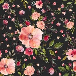 "7"" Floral Rhapsody / Charcoal Black"