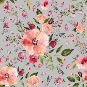 """8"""" Floral Rhapsody / Grey"""