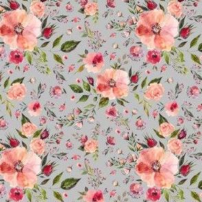 """4"""" Floral Rhapsody / Grey"""
