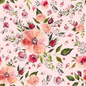 "18"" Floral Rhapsody / PINK"