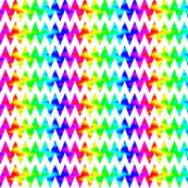 Rainbow Chevron Zigzag on White