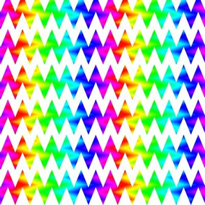 Rainbow Chevron Zigzag on White