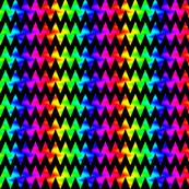 Rainbow Chevron Zigzag on Black