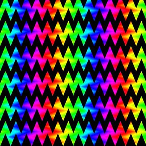 Rainbow Chevron Zigzag on Black