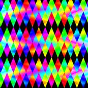 Rainbow Diamonds on Black