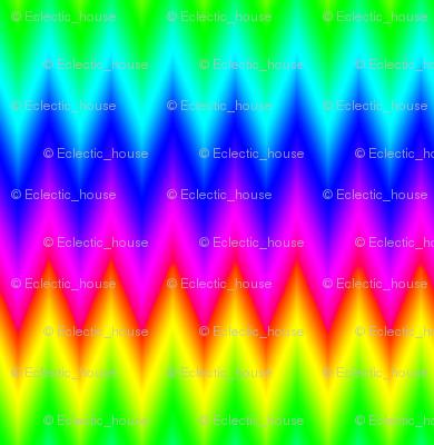 Ombre Rainbow Chevron Zigzag