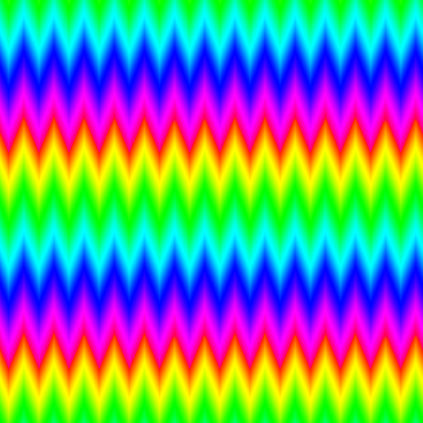Ombre Rainbow Chevron Zigzag fabric by eclectic_house on Spoonflower - custom fabric