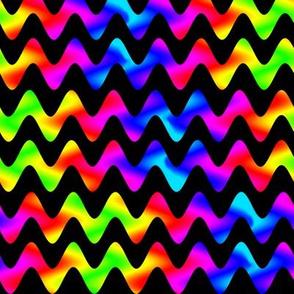 Ombre Rainbow Rickrack on Black