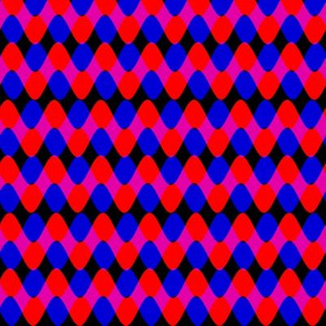 Interwoven Red and Blue Rickrack