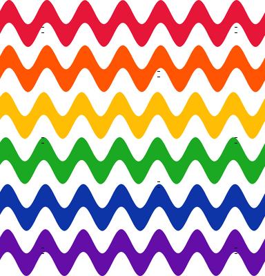 Rainbow Rickrack on White