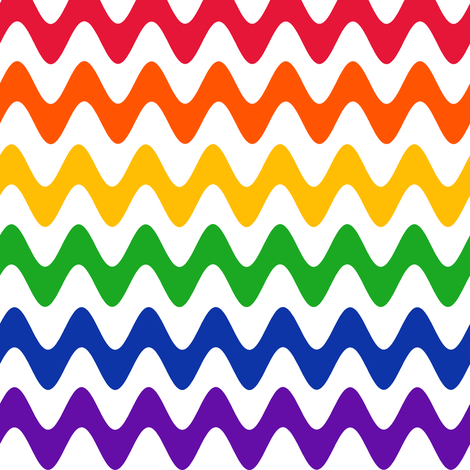 Rainbow Rickrack on White fabric by eclectic_house on Spoonflower - custom fabric