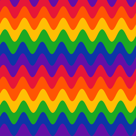 Rainbow Rickrack fabric by eclectic_house on Spoonflower - custom fabric