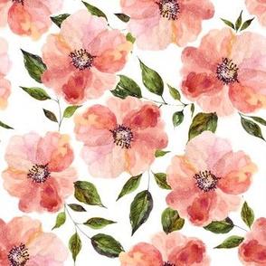"""7"""" Floral Peach Rhapsody / White"""