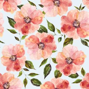 "18"" Floral Peach Rhapsody / Blue"