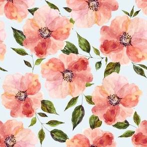 "7"" Floral Peach Rhapsody / Blue"