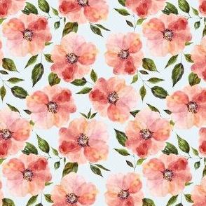 "4"" Floral Peach Rhapsody / Blue"