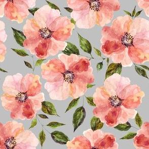 """7"""" Floral Peach Rhapsody / Grey"""