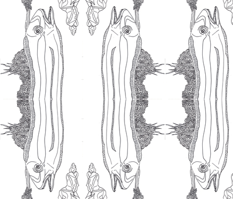 Double Eel fabric by madartes on Spoonflower - custom fabric