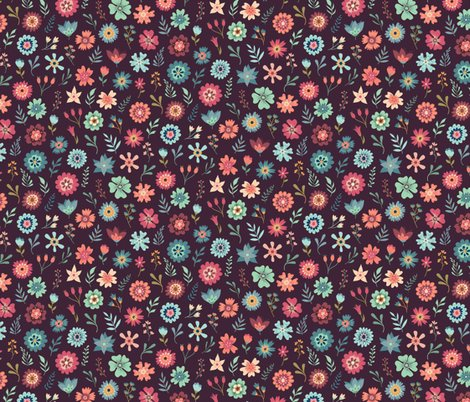 Rvintage_floral_scatter_-_maroon_pattern_shop_preview
