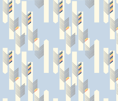 Arrow_Drop_light_blue fabric by aebr_design on Spoonflower - custom fabric