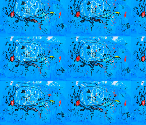 Underwater_scene fabric by hellobnatural on Spoonflower - custom fabric