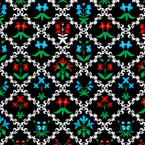 Tapestry Flowers 4 fabric by jadegordon on Spoonflower - custom fabric
