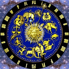 3 clocks time stars universe galaxy zodiac Horoscope Aries Taurus Gemini Cancer Leo Virgo Libra Scorpio Sagittarius Capricorn Aquarius Pisces astrology gold roman numerals cosmic cosmos planets galaxies nebulae night quasars  baroque rococo versace inspir