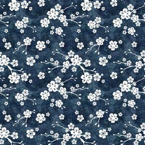 Navy blue cherry blossom