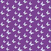 Medium small butterflies, multicoloured on plum purple || shirt top blouse night gown woman dress fun trendy man men girl kid women