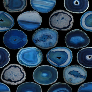 LARGE BLUE BLACK AGATE SLICES