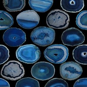 LARGE BLUE BLACK AGATE SLICES