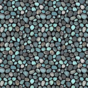 SMALL BLUE BLACK TURQUOISE STONES