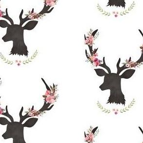 "4"" Spring Floral Deer"
