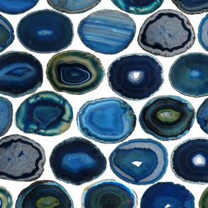 LARGE GREEN BLUE WHITE AGATE SLICES