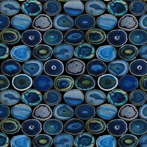 SMALL GREEN BLUE BLACK AGATE SLICES