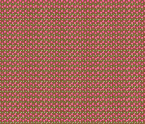 Pink Cherries on Chocolate fabric by snapdragonandfinn on Spoonflower - custom fabric