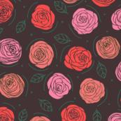Roses on matte black
