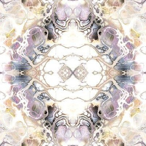 WATERCOLOR DAMASK MARBLE BEIGE MAUVE