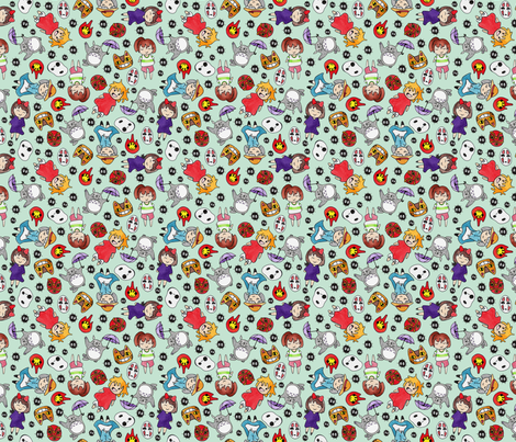 Studio Favorites fabric by helloquirky on Spoonflower - custom fabric