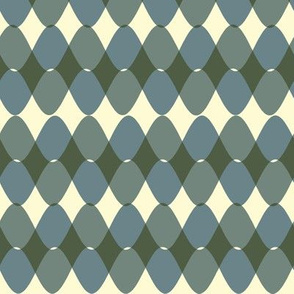 Interwoven Bayeux Blue Green Gray Rickrack