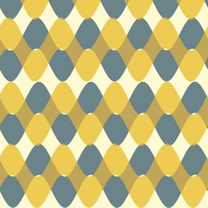 Interwoven Bayeux Buff Yellow Blue Gray Rickrack