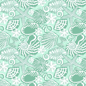SEA SHELLS mint green