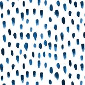 Indigo watercolor Drops Rain Spot Navy Blue Boho Bohemian Home Decor _Miss Chiff Designs