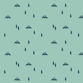 Mountain Doodles (mint)