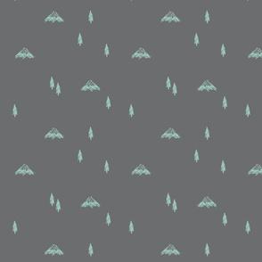Mountain Doodles (grey)