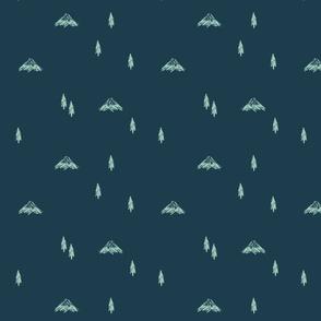 Mountain Doodles (navy)