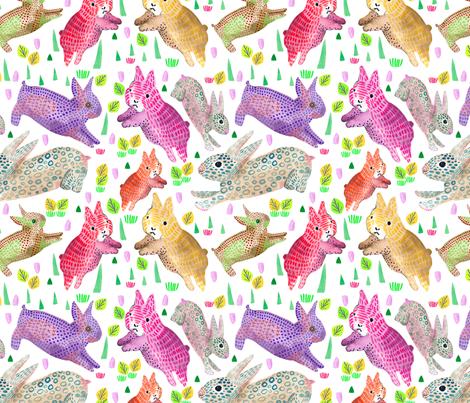 bunny frenzy fabric by banzacadesign on Spoonflower - custom fabric