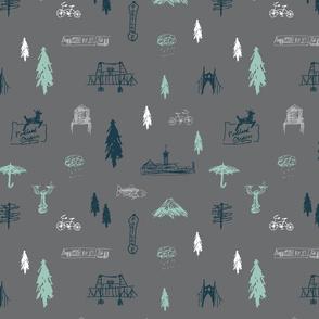 Portland Doodles (grey)