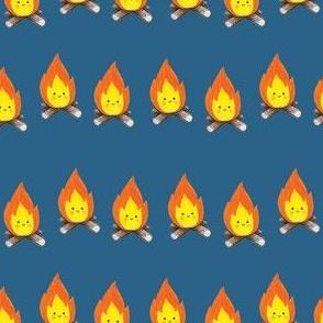Campfires on Medium Blue