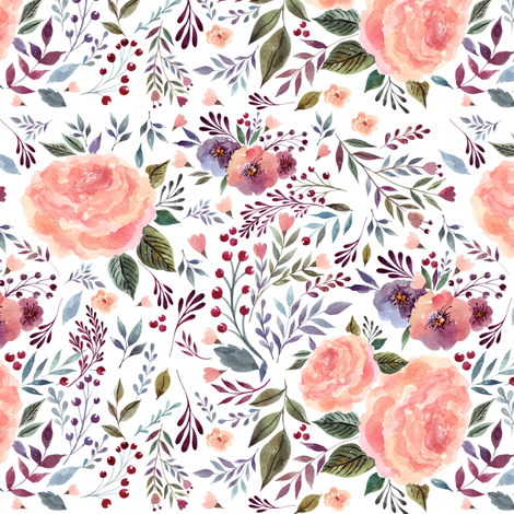 "7"" Floral Breeze fabric by shopcabin on Spoonflower - custom fabric"